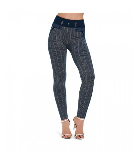 Striped High Waist Skinny Pants
