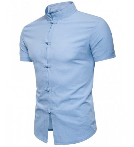 Casual Chinese Button Stand Collar Shirt