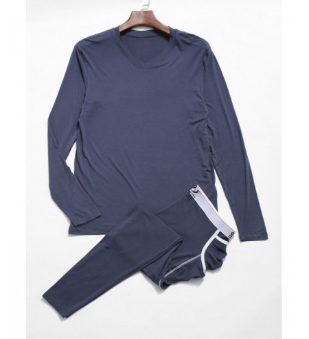 Soft Thermal Underwear Long Sleeve T-shirt Pants Set