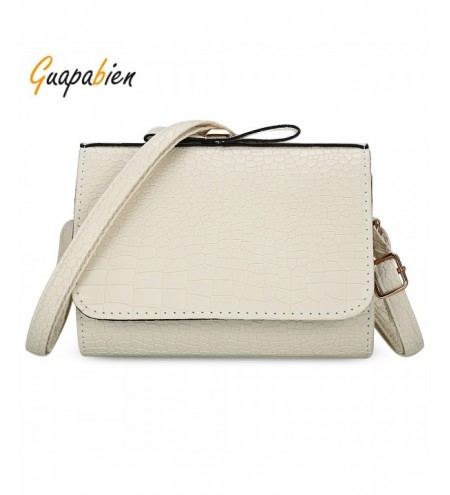 Guapabien Women Bowknot Crocodile Print Crossbody Bag