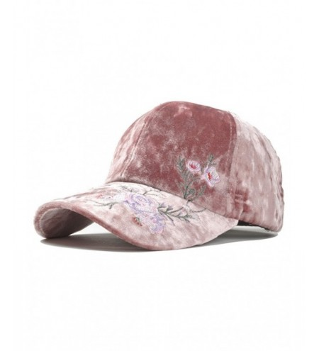 Vintage Floral Pattern Embroidery Thicken Baseball Hat