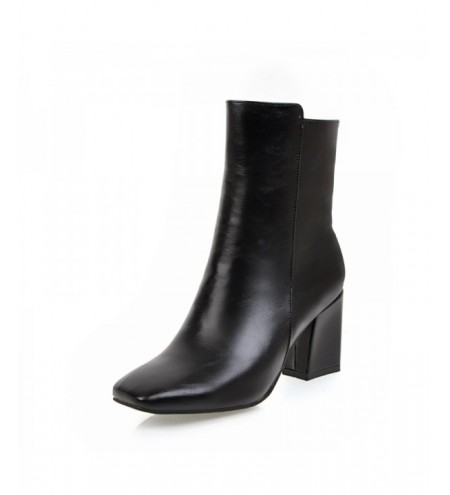 New Winter Square with White Zipper Warm Boots
