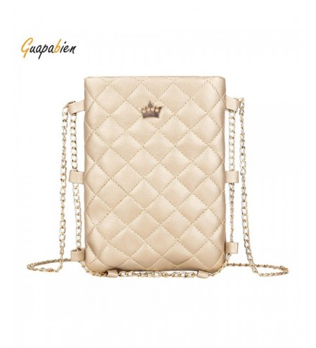 Guapabien Crown PU Leather Diamond Pattern Chain Ladies Crossbody Bag