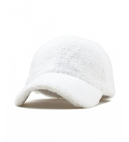 Solid Color Fuzzy Baseball Cap