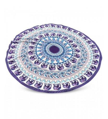 Indian Elephant Chiffon Round Beach Throw