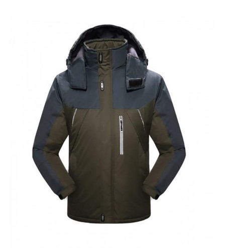 Men's Ski Waterproof Fleece Mountain Hooded Jackets Outdoor Coat