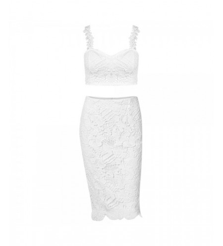 Women Sexy Vest High Waist Lace Two Piece Dress