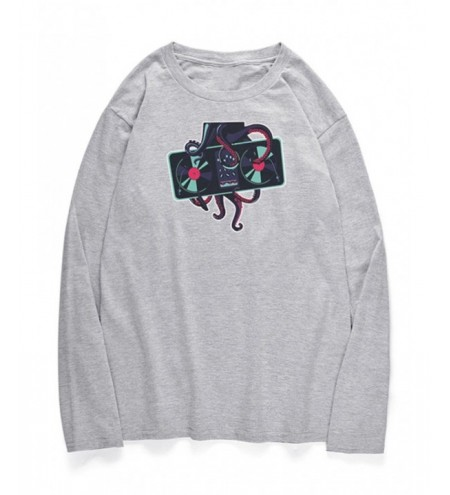 Crew Neck Octopus Printed T-shirt