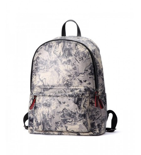 HAUT TON Design Printing Canvas Water Resistant Backpack