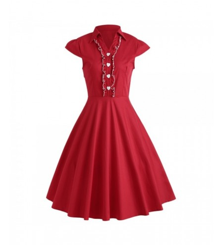 Ruffle Cap Sleeve Vintage Dress