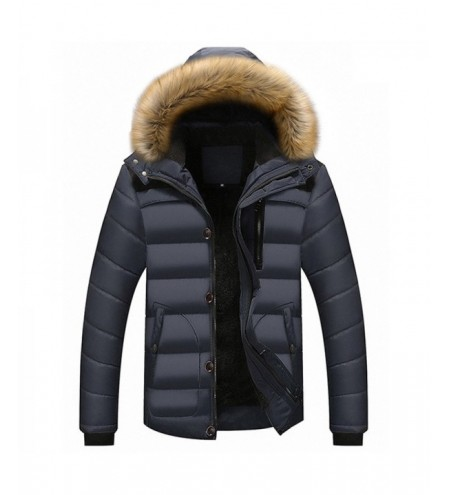 New Man Warm Fashion with Hooded Casual Parka Coat