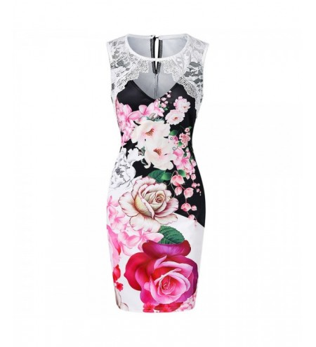 Cut Out Floral Print Bodycon Dress