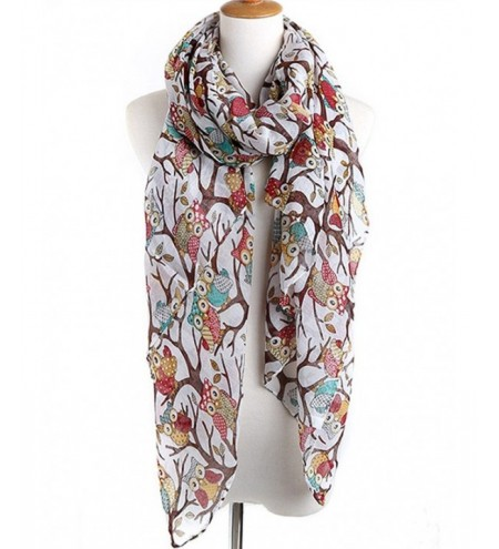 Naughty Owl Decorative Spring Fall Scarf