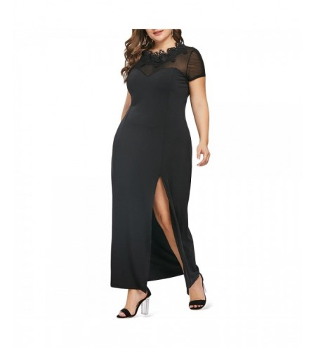 Plus Size Slit Casual Floor Length Dress