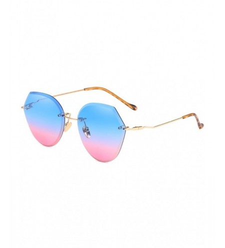 Anti UV Irregular Lens Frameless Sunglasses