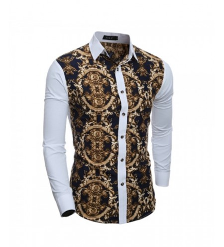 New 3D Print Men's Casual Slim Long-Sleeve Shirt