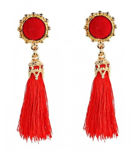 Vintage Boho Style Long Tassel Drop Earrings