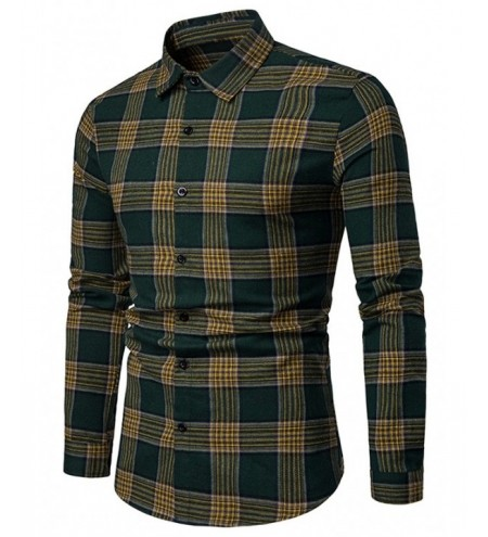 Casual Plaid Print Button Up Long Sleeve Shirt