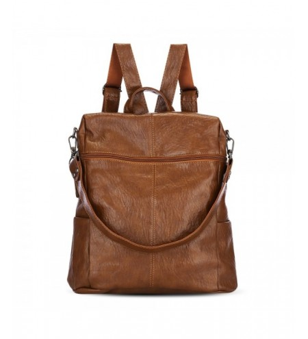 PU Leather Shoulder Bag Personality Backpack