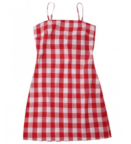 Sleeveless Tie Back Plaid Dress