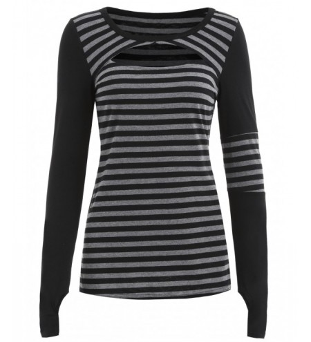 Long Sleeve Stripe Panel T-shirt