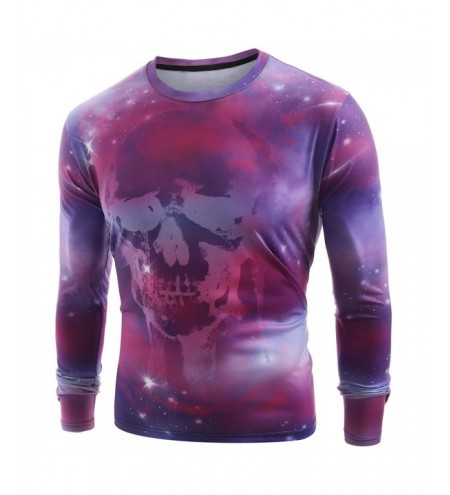 Starry Sky Skull Print Long Sleeve T-shirt