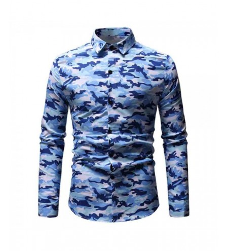 Long Sleeves Camouflage Print Shirt