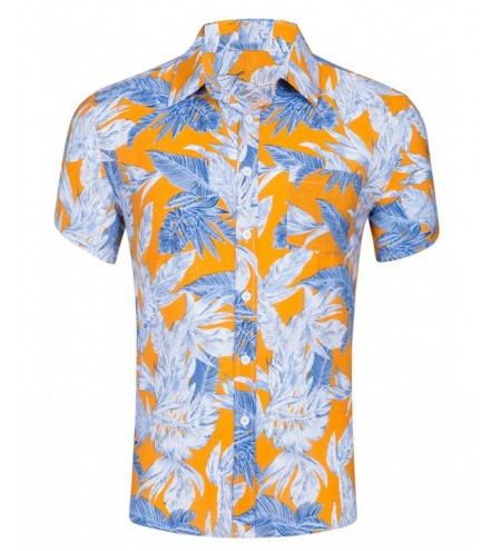 Leaf Texture Printed Casual Hawaiian Shirt