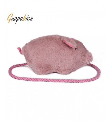 Guapabien Cute Cartoon Girlish Plush Pig Crossbody Women Bag