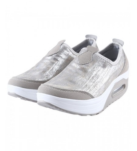 Casual Pearlite Layer Comfortable Slip On Ladies Platform Shoes