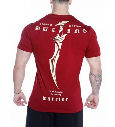 Sword Letters Print Short Sleeves T-shirt