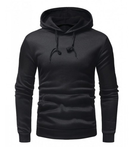 Men Fashion Casual Solid Color Hoodies