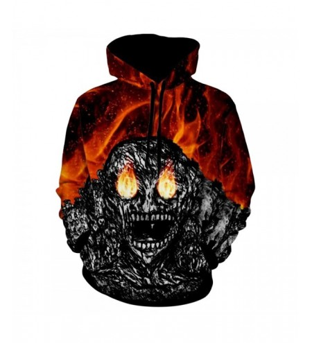 Devil Printed Kangaroo Pocket Halloween Hoodie