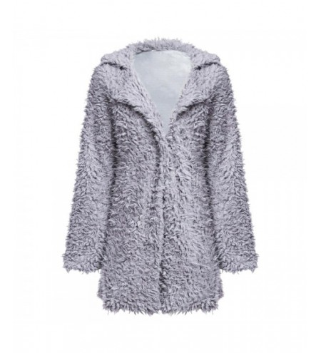 Stylish Turn-down Collar Long Sleeve Women Wool Overcoat
