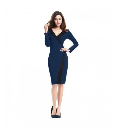 Long Sleeve Sexy Slim Knee Length Bodycon Dress for Ladies