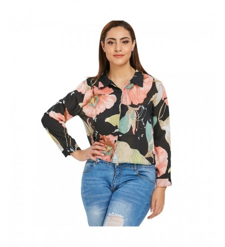 Floral Plus Size High Low Shirt