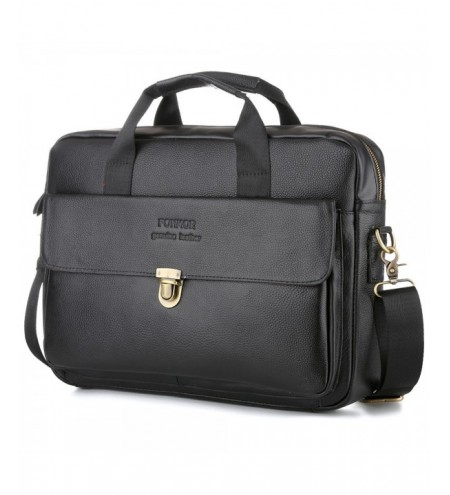 Oli Wax Genuine Leather Laptop Bag for Men's Business Briefcase