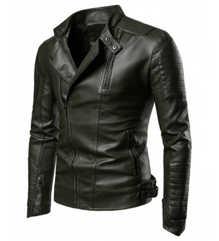 Zippers Embellished Casual Faux Leather Jacket