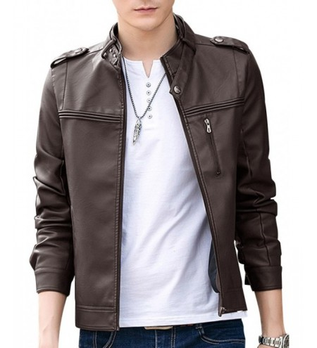 Motorcycle Zipper Casual PU Leather Jacket