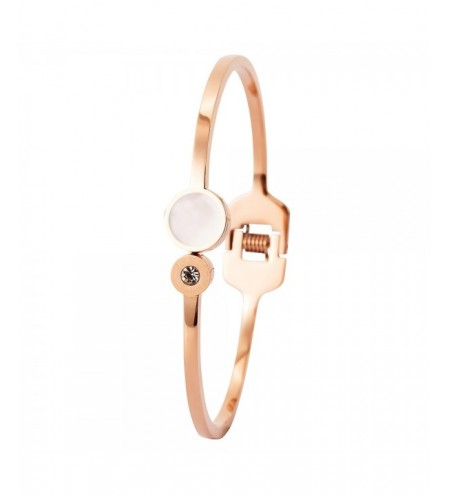 Female Delicate Titanium Bracelet Round Shell Decorative Anti-allergy Bracelet