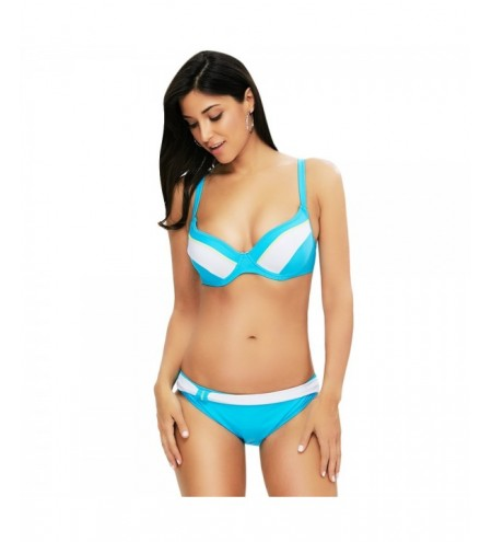 Sexy Color Blocking Wire Swimsuit Women Bikini