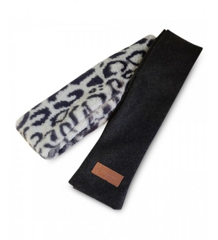 Unisex Leapard Pattern Wool Stuffed Fur Scarf Neck Warmer