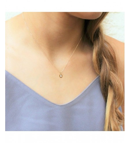 Golden Drop Diamond Pendant Necklace Female Clavicle Short Chain