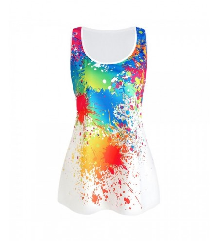 Splash Tie Dye Plus Size Tank Top
