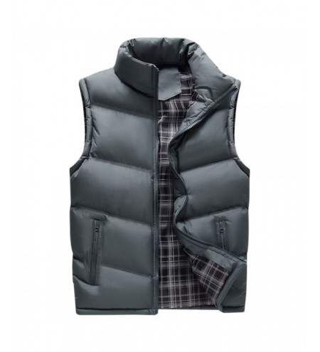 Winter Zipper Pockets Solid Puffer Waistcoat