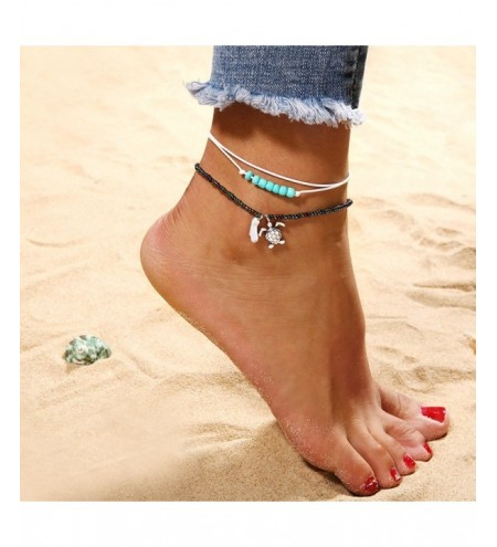 Fashion Turtle Beads Anklets Set Beach Chains