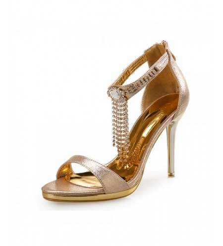 Open Toe Rhinestone Stiletto Sandals Water Resis Platform Sexy High Heel Sandals