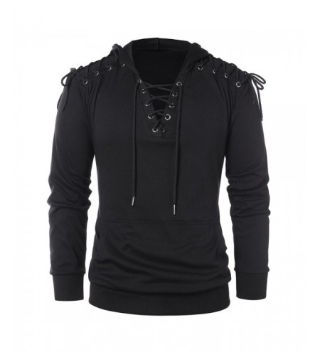 Lace Up Long Sleeve Hoodie