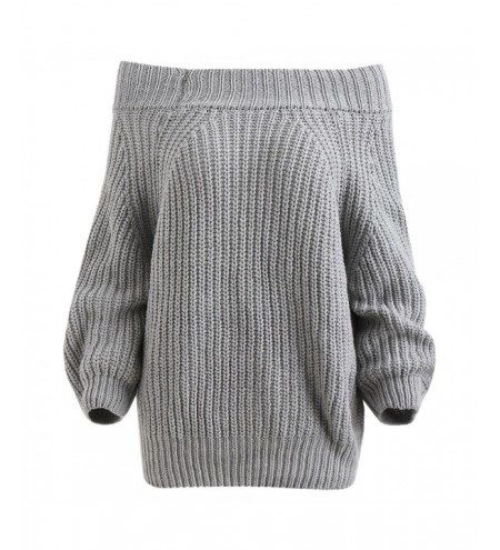 Off The Shoulder Plain Sweater