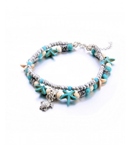 Fashion New Conch Starfish Beach Turtle Tortoise Anklet Bracelet